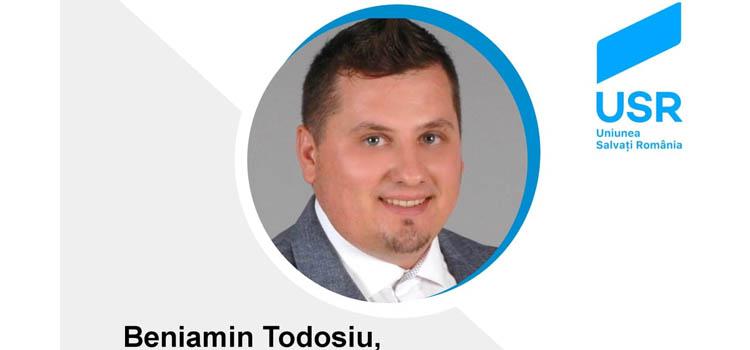 Beniamin Todosiu este candidatul USR la președinția Consiliului Județean Alba