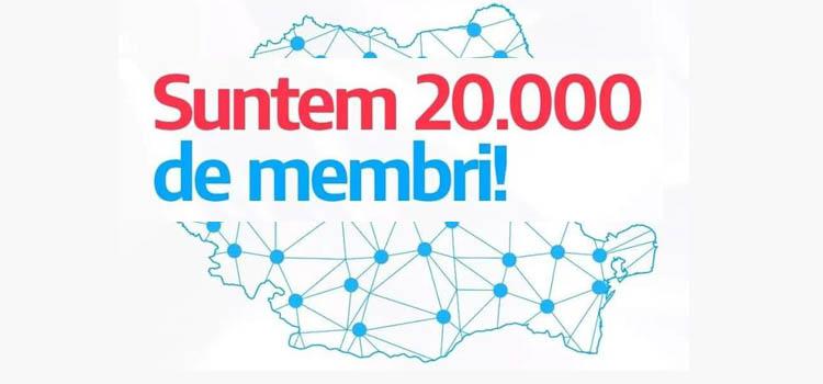Suntem 20 000 de membri
